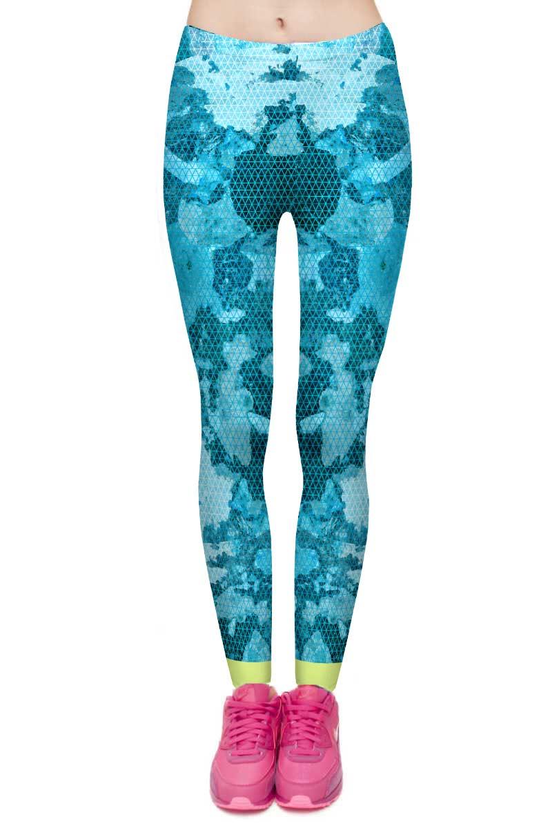Blauwe Sportlegging.Blue Wiz Sport Legging Kekke Leggings